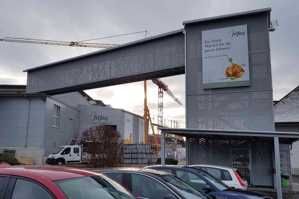 Neubau Passerelle Frifag, Märwil