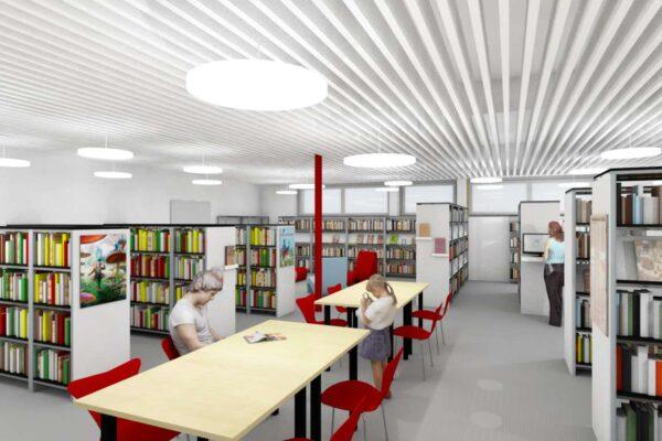 """Umbau """"alte Migros"""" zur Bibliothek, Sirnach"""